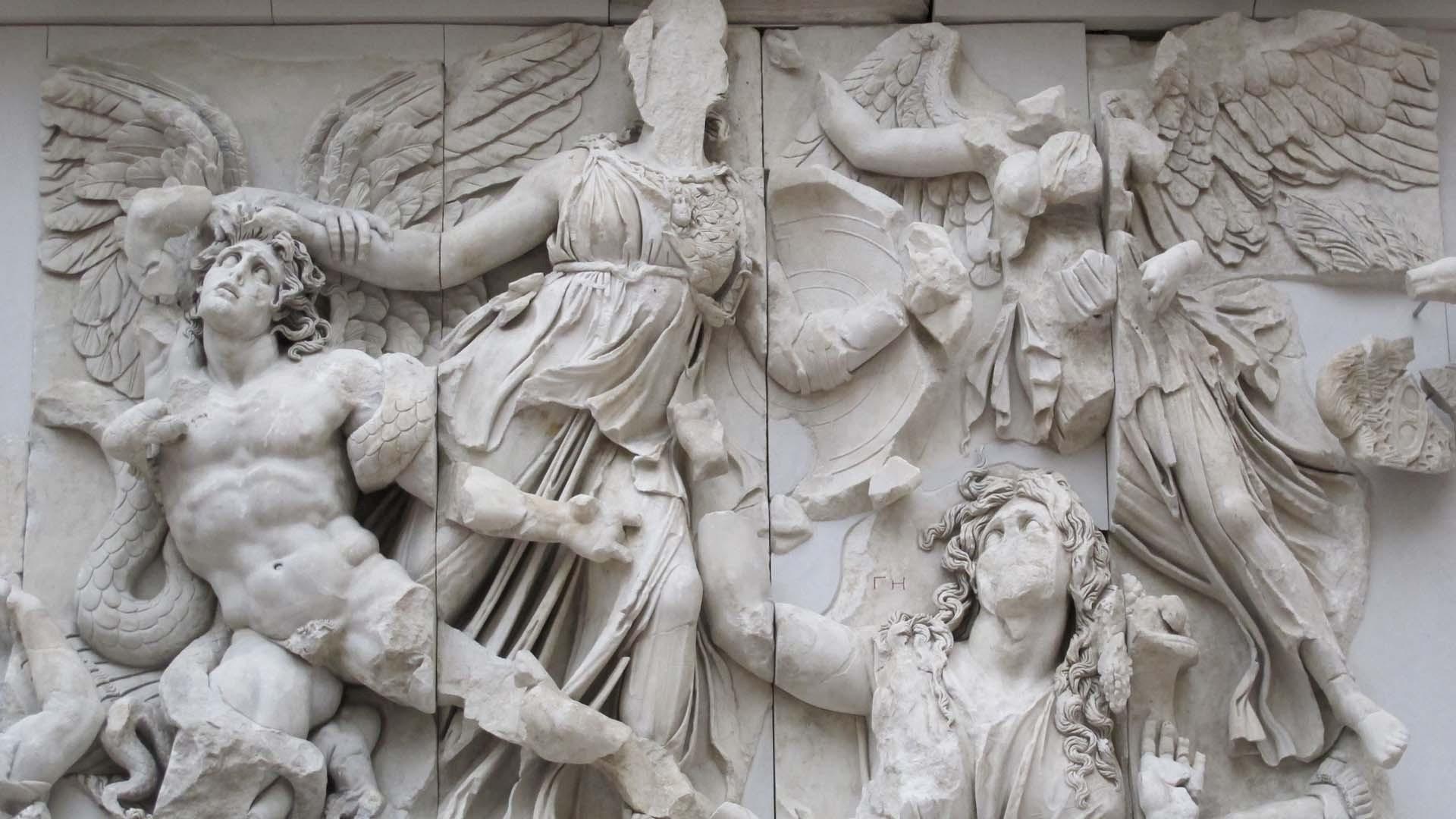 Goddess of wisdom and strategy sculpture Goddess Athena statue ancient Greek